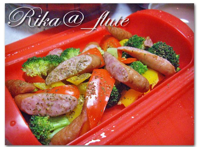 お野菜とソーセージのイタリアン蒸し